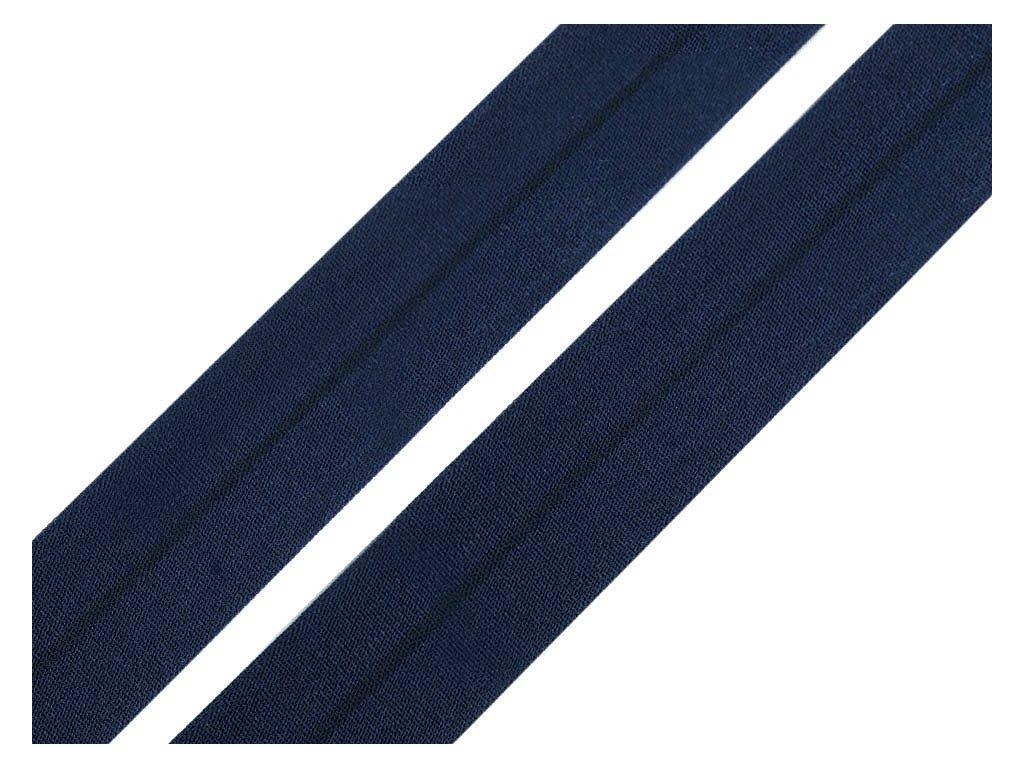 Pruženka lemovací matná šíře 20 mm - modrá tmavá