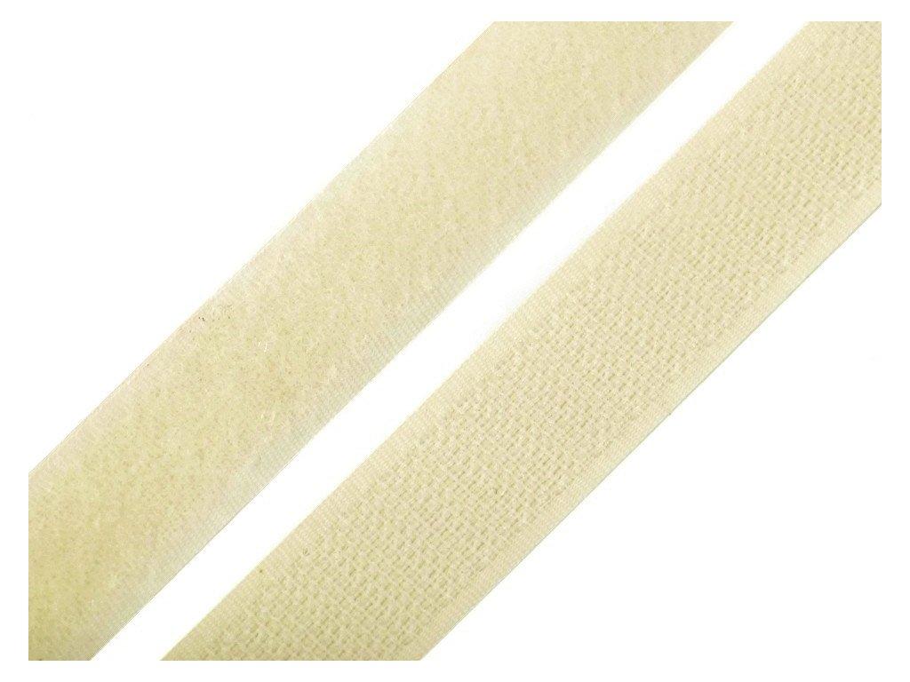 Suchý zip šíře 20 mm komplet - ecru