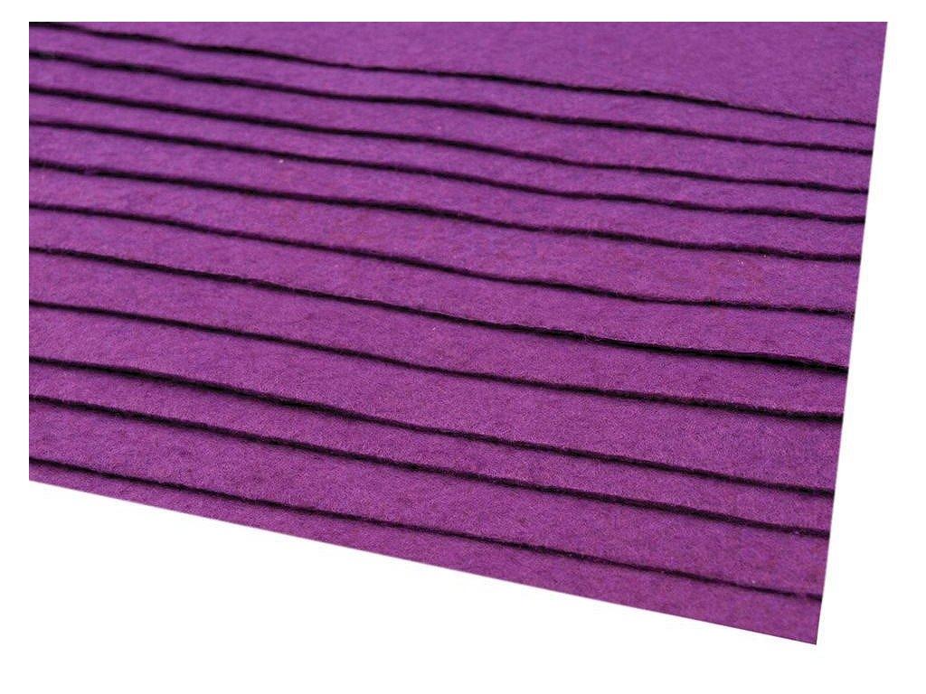 Látková dekorativní plsť 20x30 cm - fialová