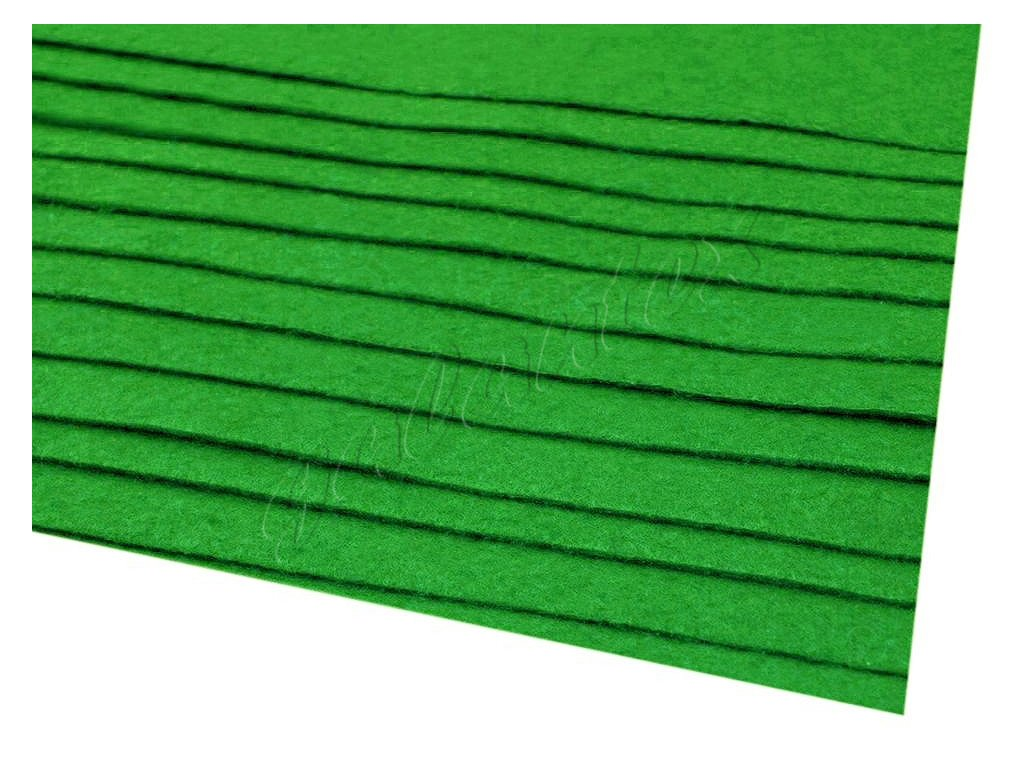 Látková dekorativní plsť 20x30 cm - zelená střední