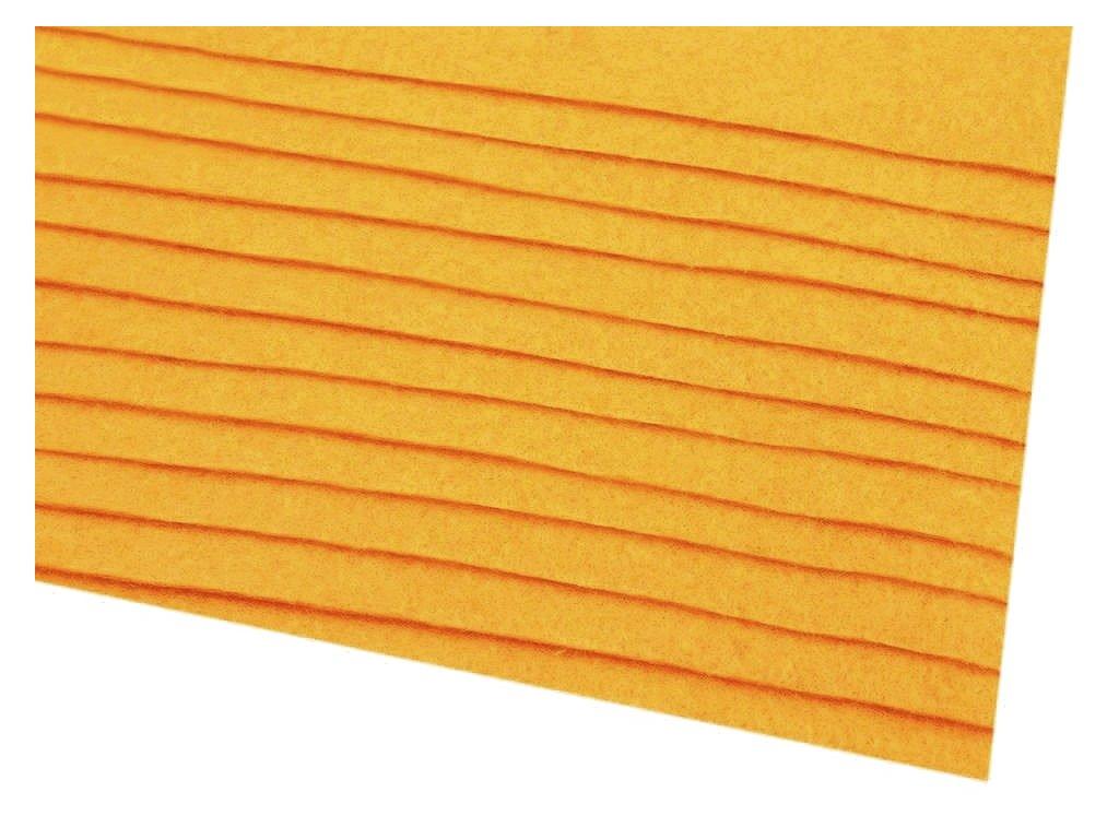 Dekorativní plsť 20x30 cm - okrová