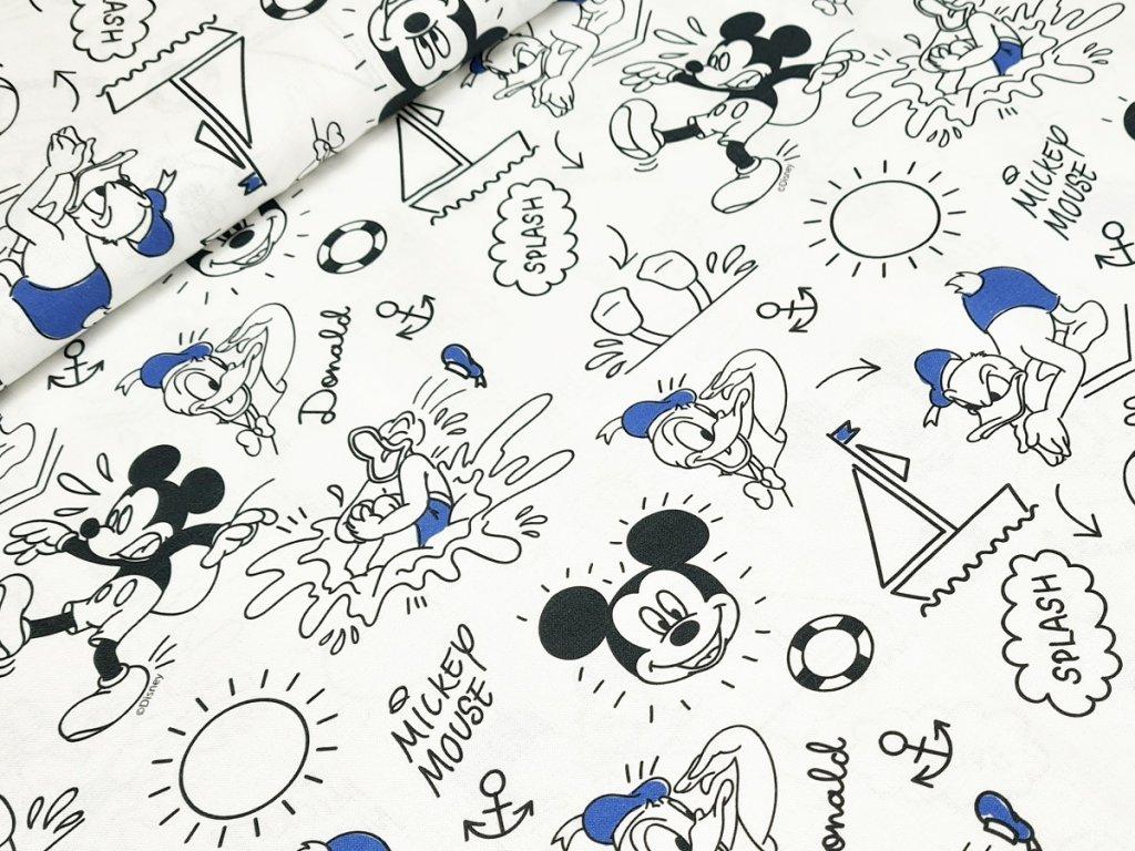 Bavlněné plátno - Mickey na bílé