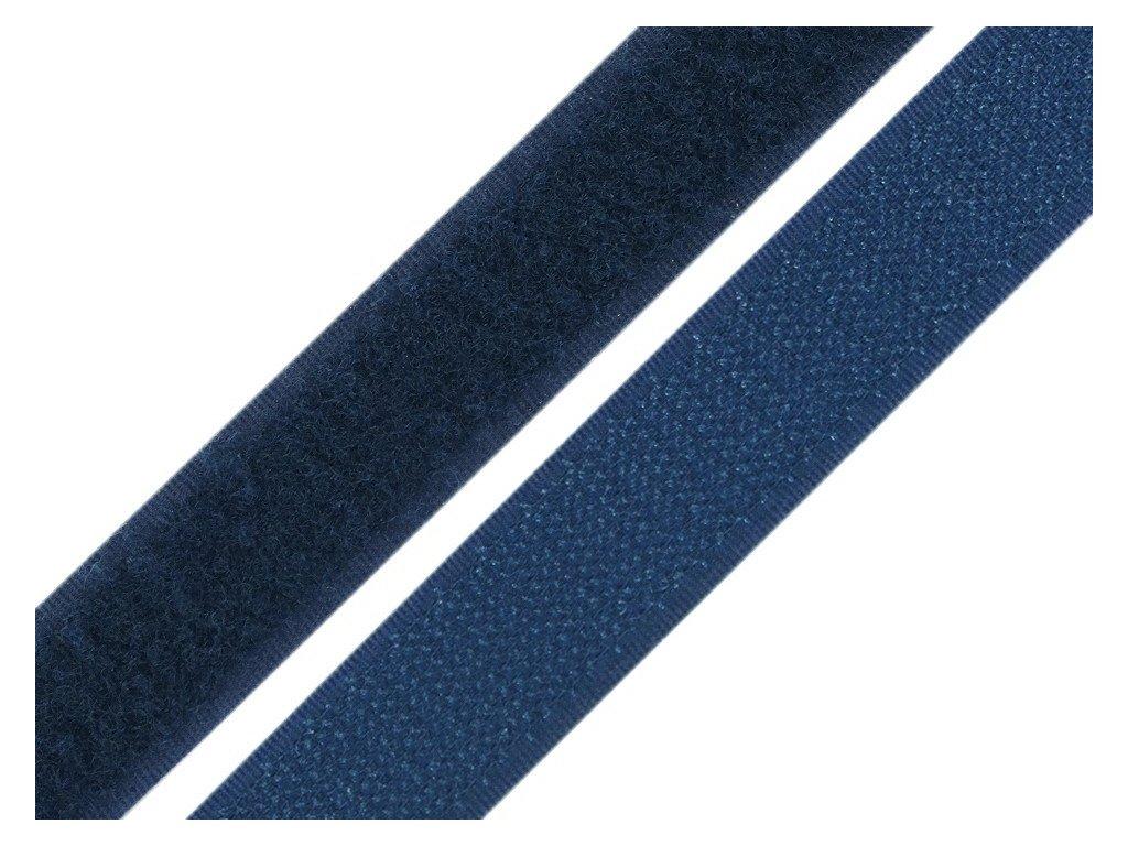 Suchý zip šíře 20 mm komplet - modrá tmavá