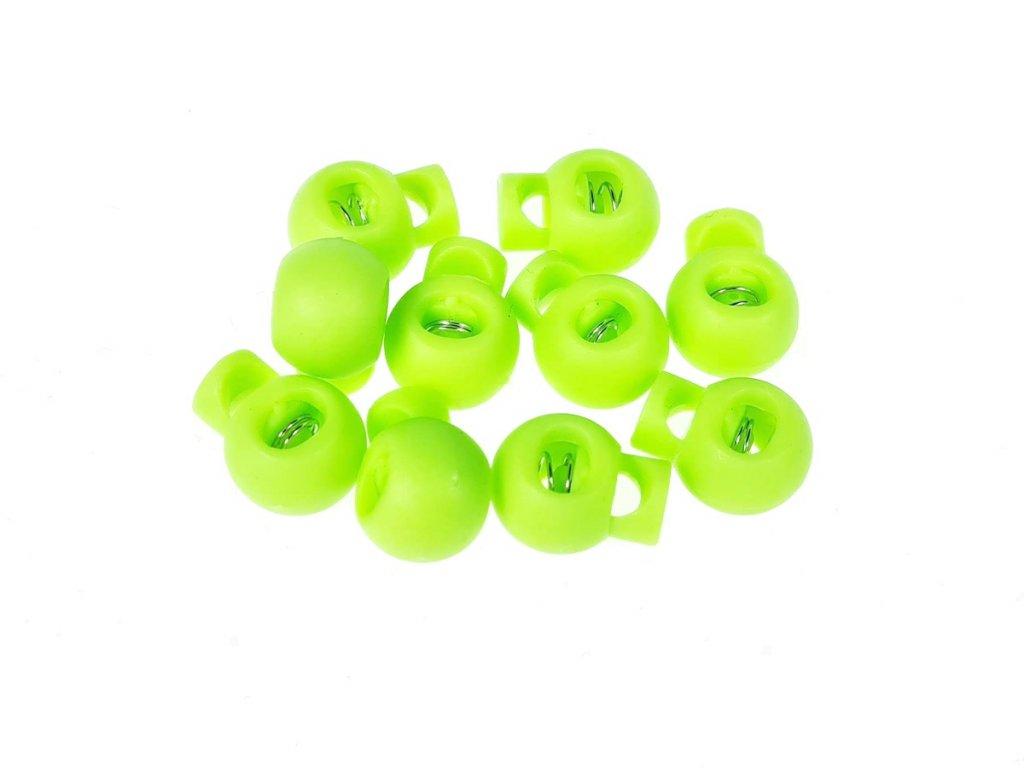 Brzdička kulatá 15x19 mm - zelená neon