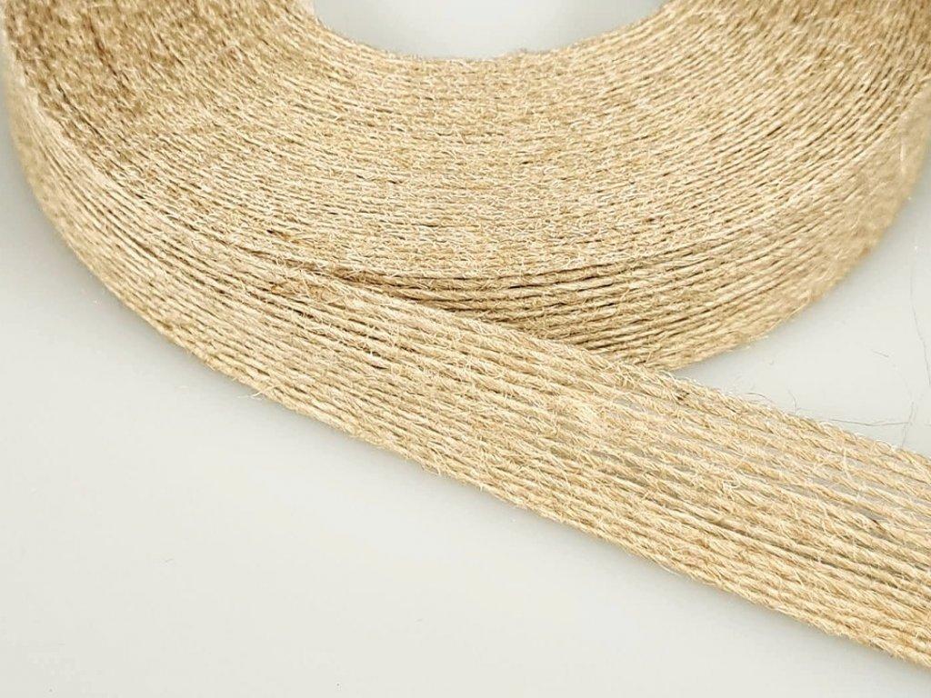 Jutová stuha šíře 25 mm - přírodní