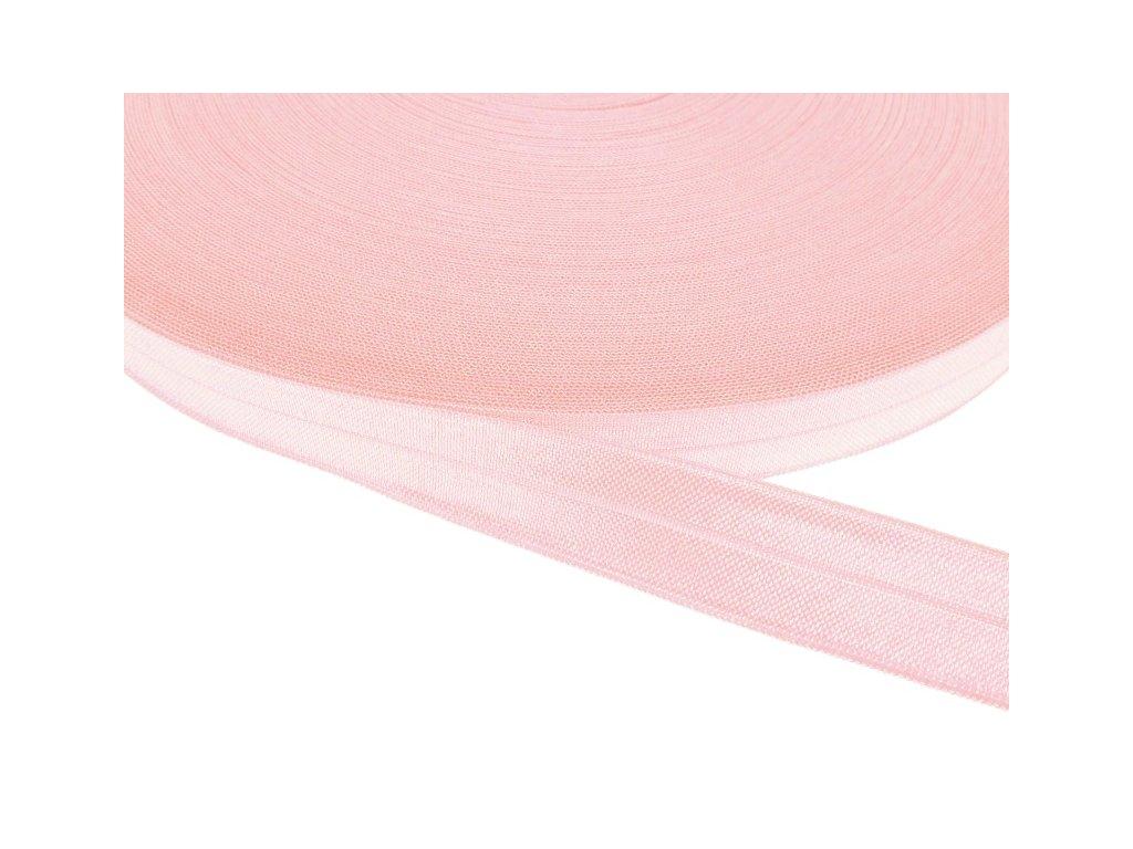 Pruženka lemovací šíře 16 mm - růžová světlá