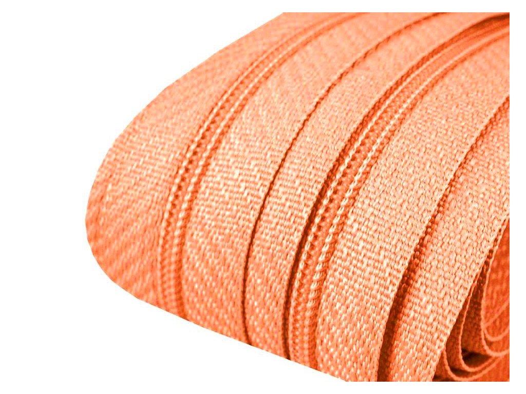Zip spirálový 3 mm metráž - meruňkový