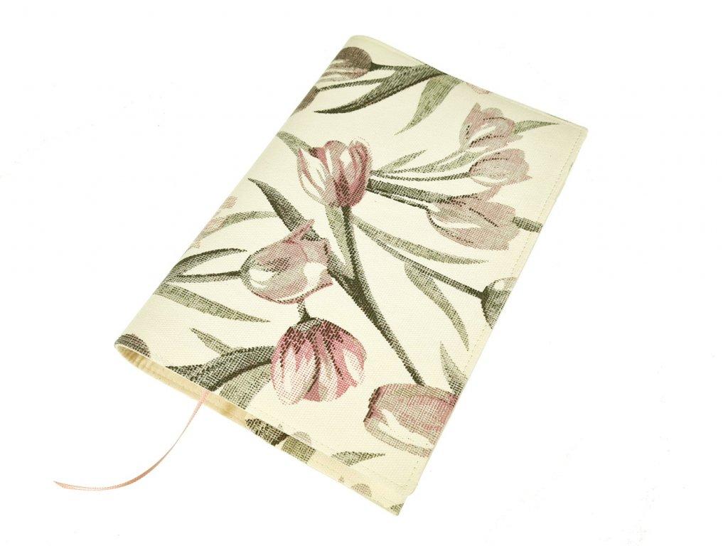 Nastavitelný obal na knihu - Tulipány