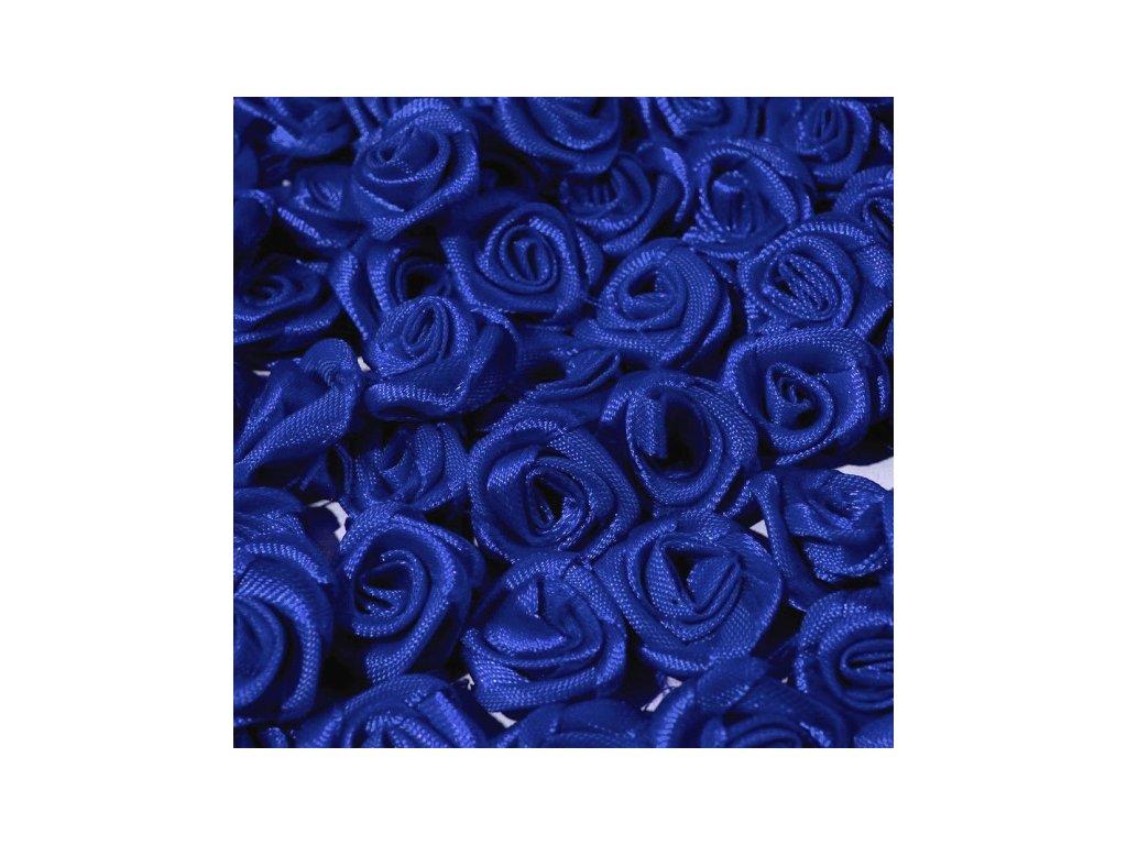 Růžička saténová OE 10-12mm (10 kusů) - modrá