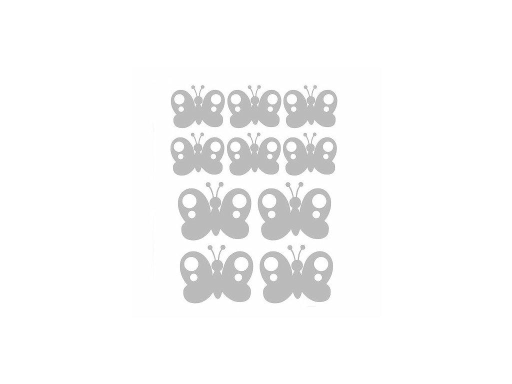 Reflexní nažehlovací potisk - motýl (10 kusů)