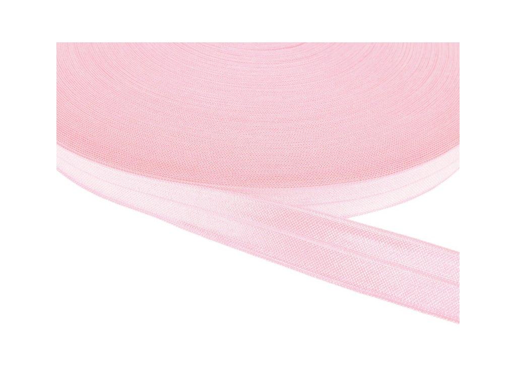 Pruženka lemovací šíře 20 mm - růžová světlá