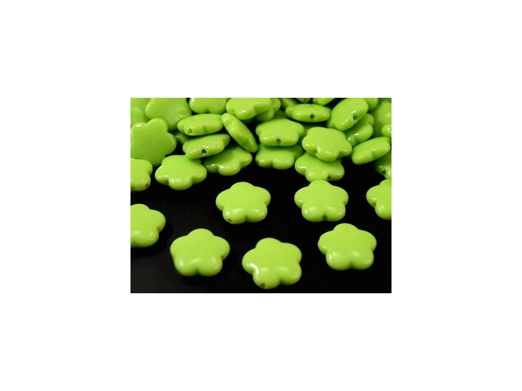 Korálky plastové 15mm Květina (10ks)  - zelené