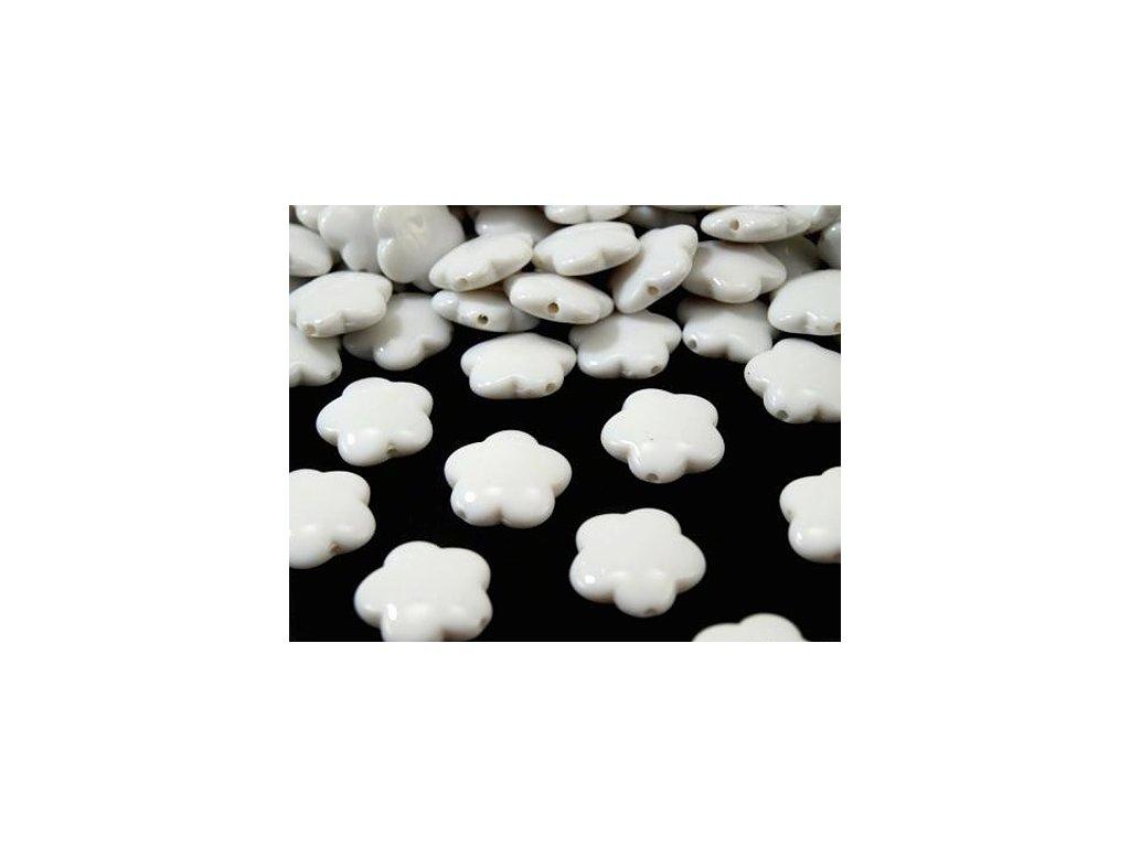 Korálky plastové 15mm Květina (10ks)  - bílé
