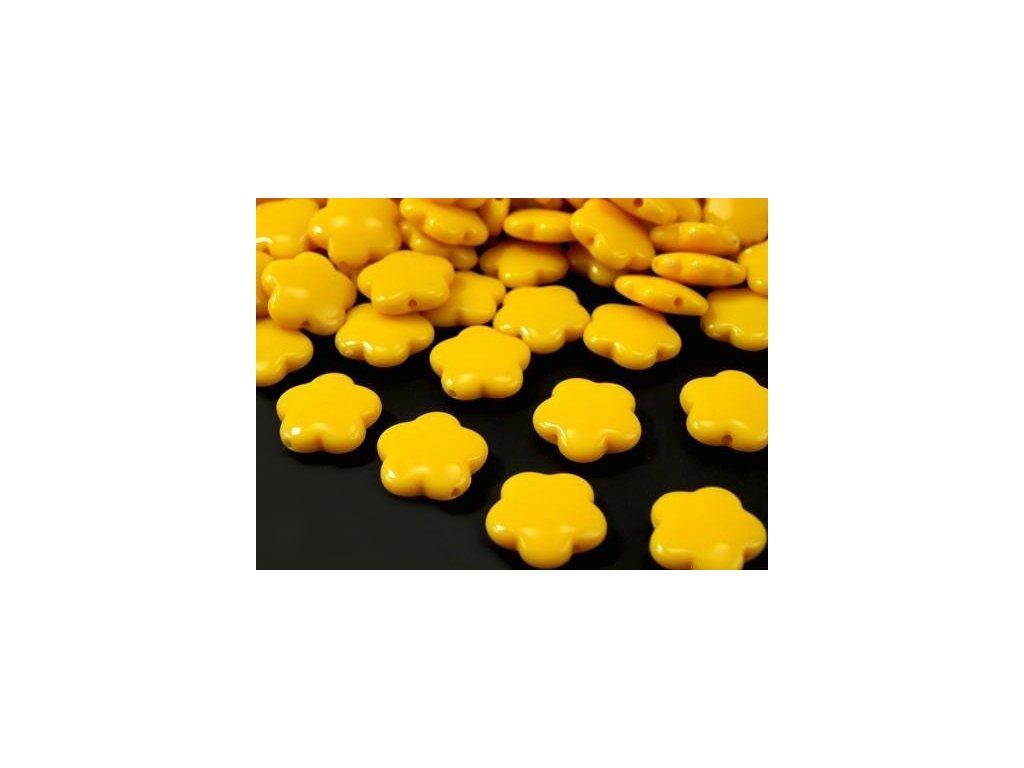 Korálky plastové 15mm Květina (10ks)  - žluté