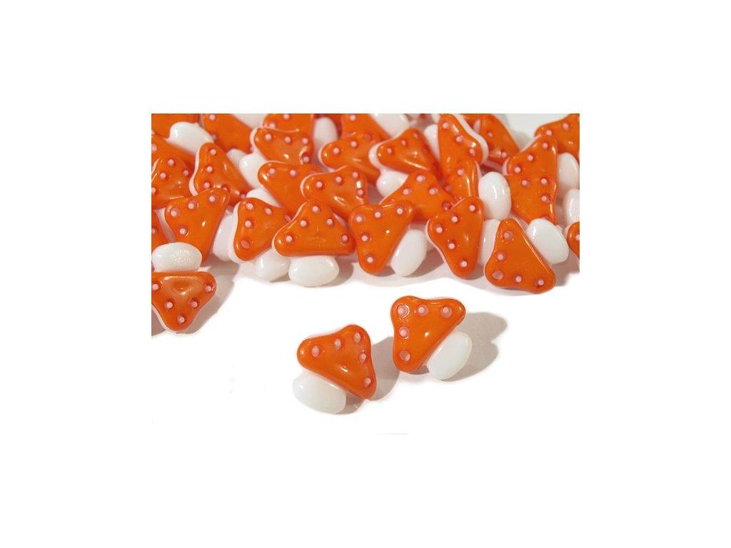 """Knoflík dětský 26"""" Muchomůrka - oranžový"""
