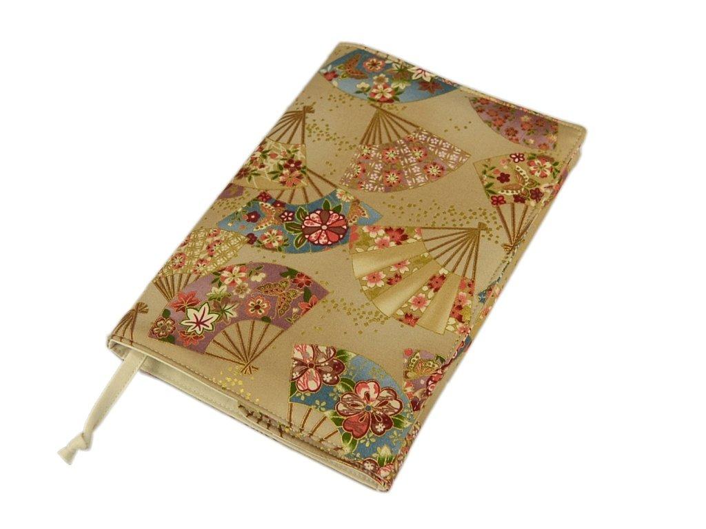 Nastavitelný obal na knihu SOFT - Vějíře zlatotisk