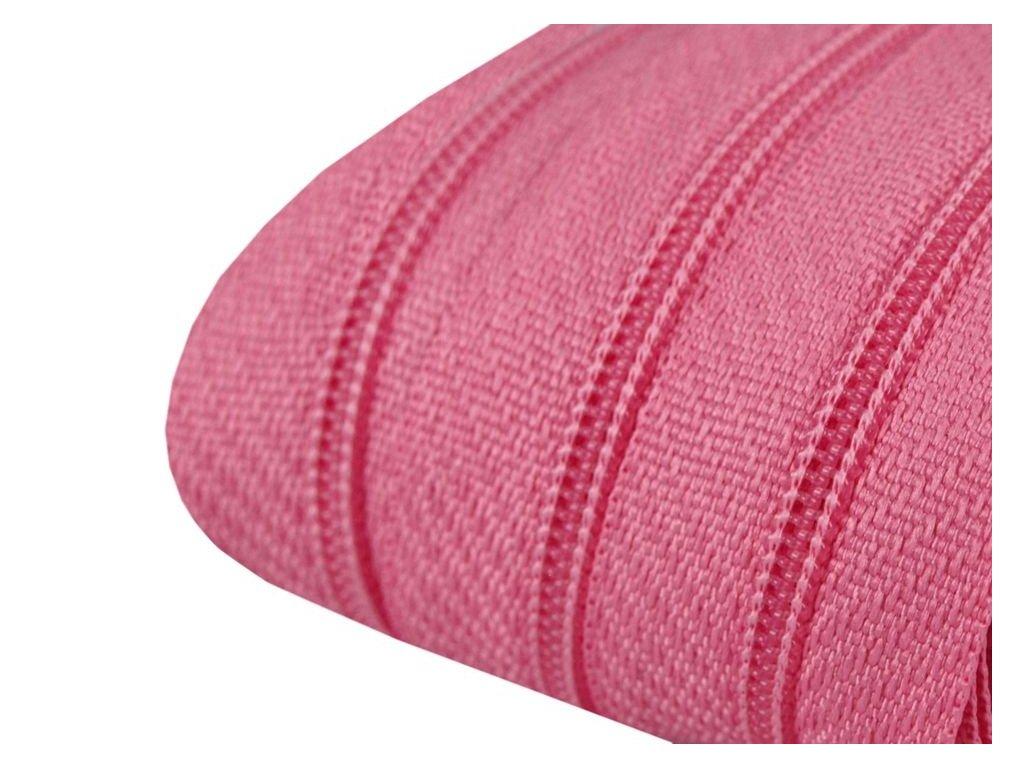 Zip spirálový 3 mm metráž - růžový