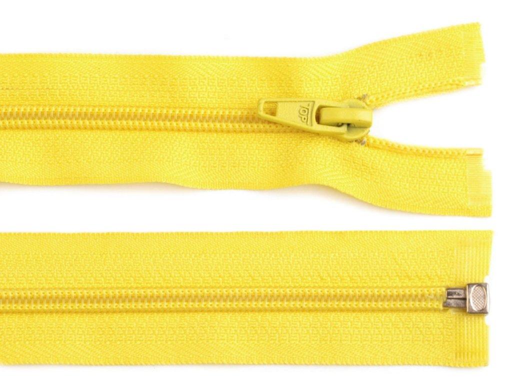 Zip spirálový dělitelný 5 mm / 40 cm - žlutý