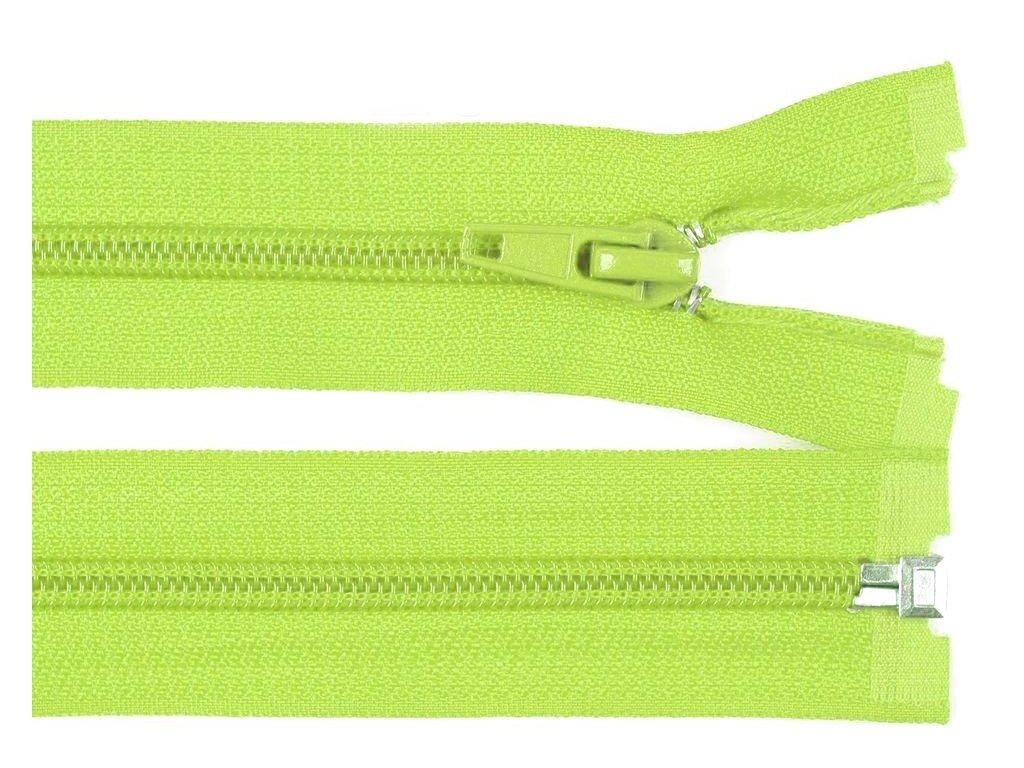 Zip spirálový dělitelný 5 mm / 40 cm - zelený světlý