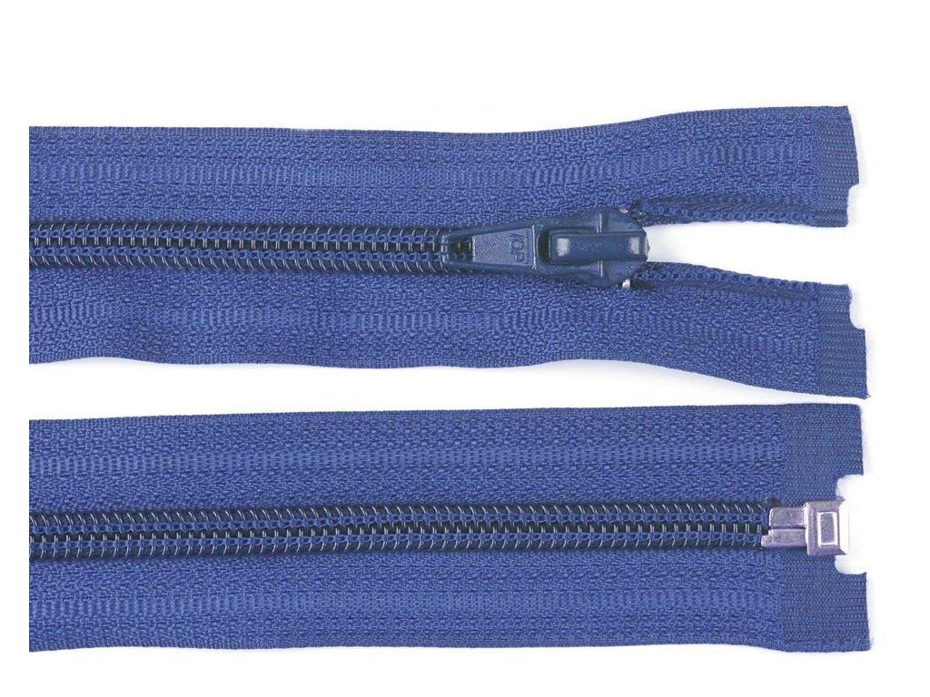 Zip spirálový dělitelný 5 mm / 40 cm - modrý