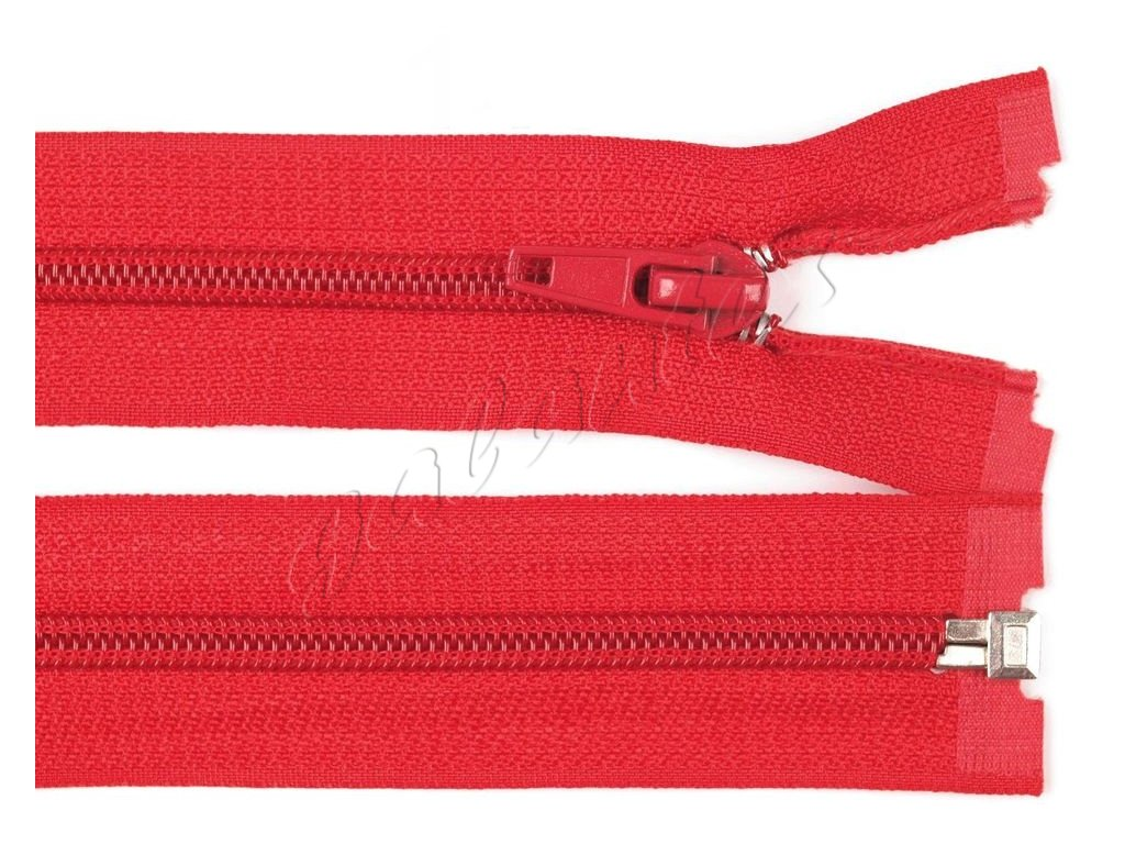 Zip spirálový dělitelný 6 mm / 45 cm - červený