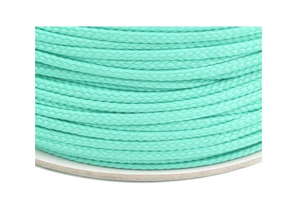 Oděvní šňůra PES 4 mm - mentolová