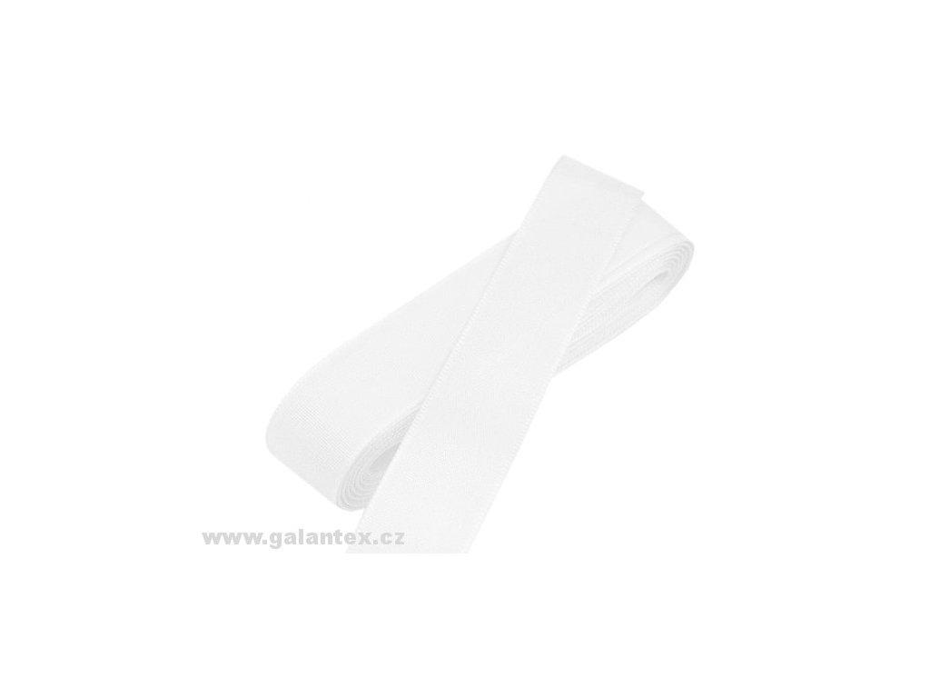 Taftová stuha - šířka 15 mm x 10 m / 100 - bílá