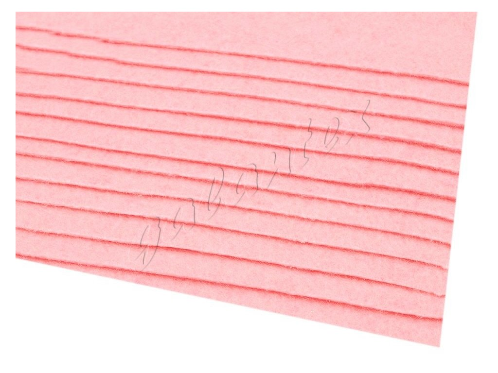 Látková dekorativní plsť 20x30 cm - růžová