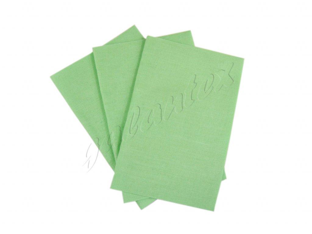 Zažehlovací záplaty plátno - nilská zeleň