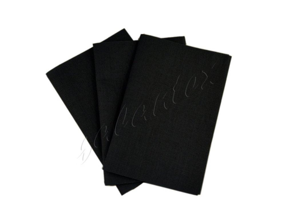 Zažehlovací záplaty plátno - černá