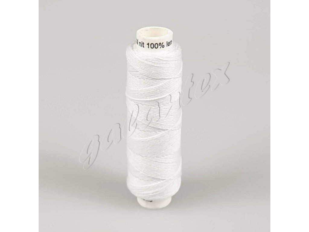 Režná (lněná) nit 50 m / 001 - bílá
