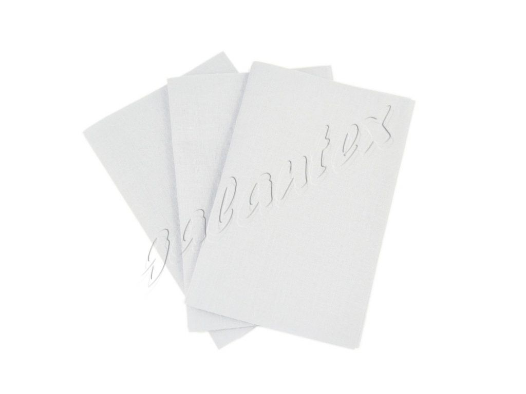 Zažehlovací záplaty plátno - bílá