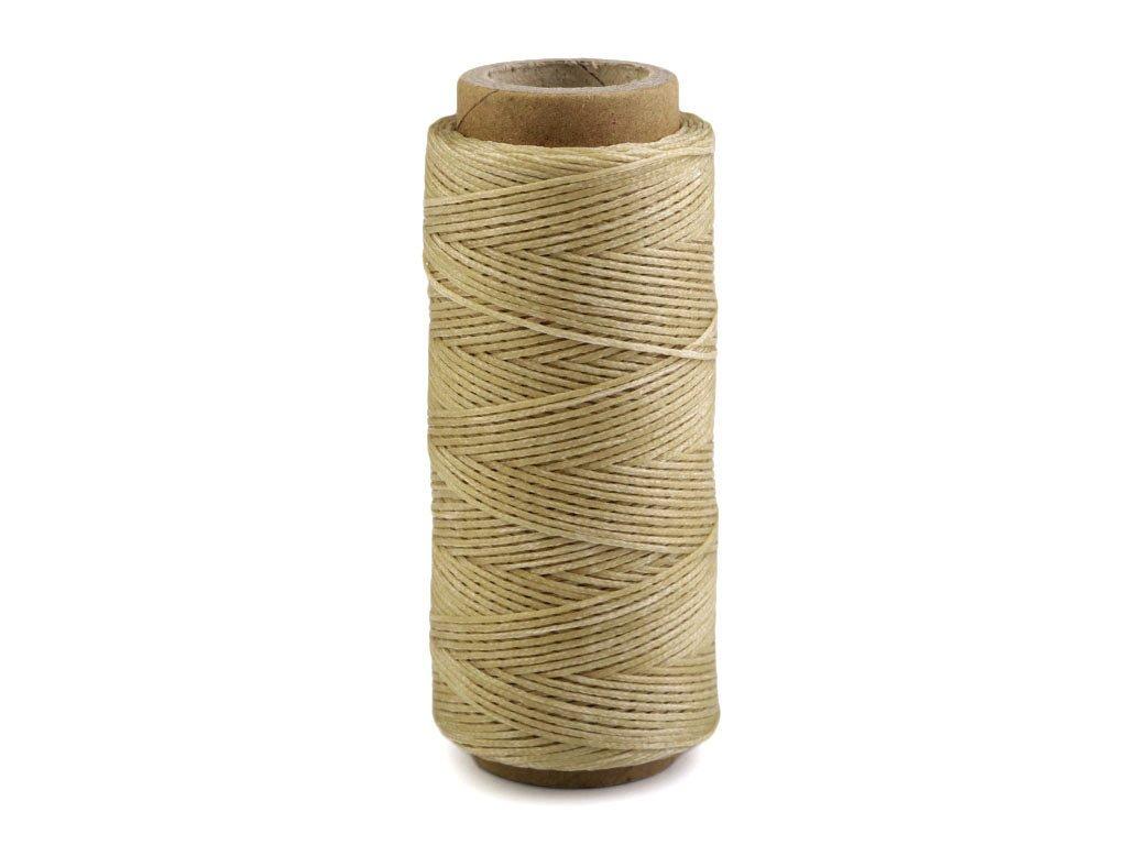 Voskovaná polyesterová nit 1 mm (100m) - béžová