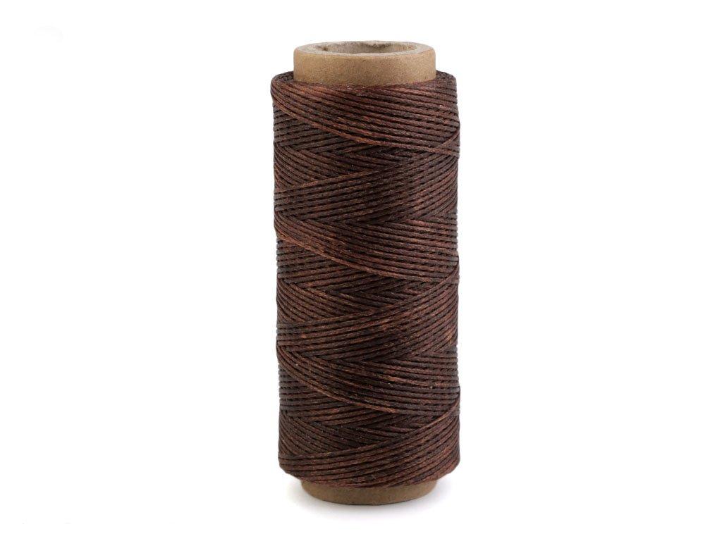 Voskovaná polyesterová nit 1 mm (100m) - hnědá