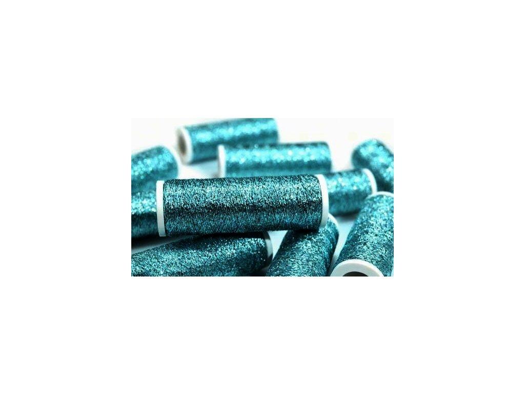 Lurexová vyšívací nit Metalux 60m / 309 - modrá