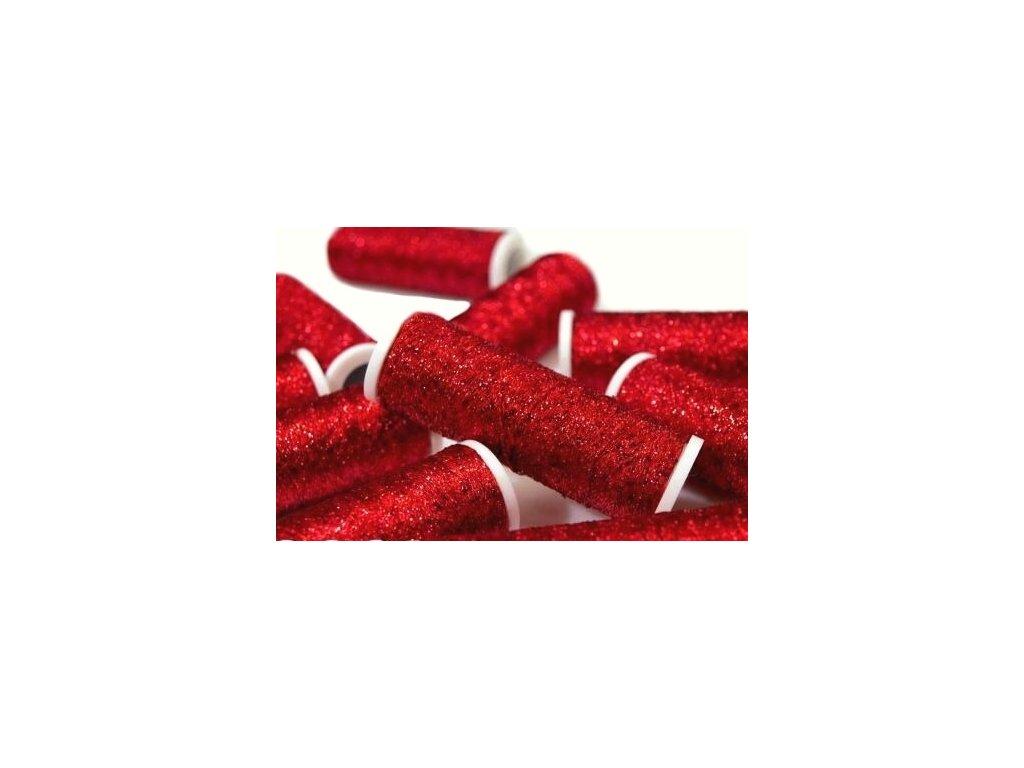 Lurexová vyšívací nit Metalux 60m / 308 - červená