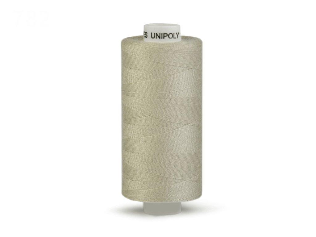 Šicí nit Unipoly 120 návin 500 m / 782 - šedobéžová