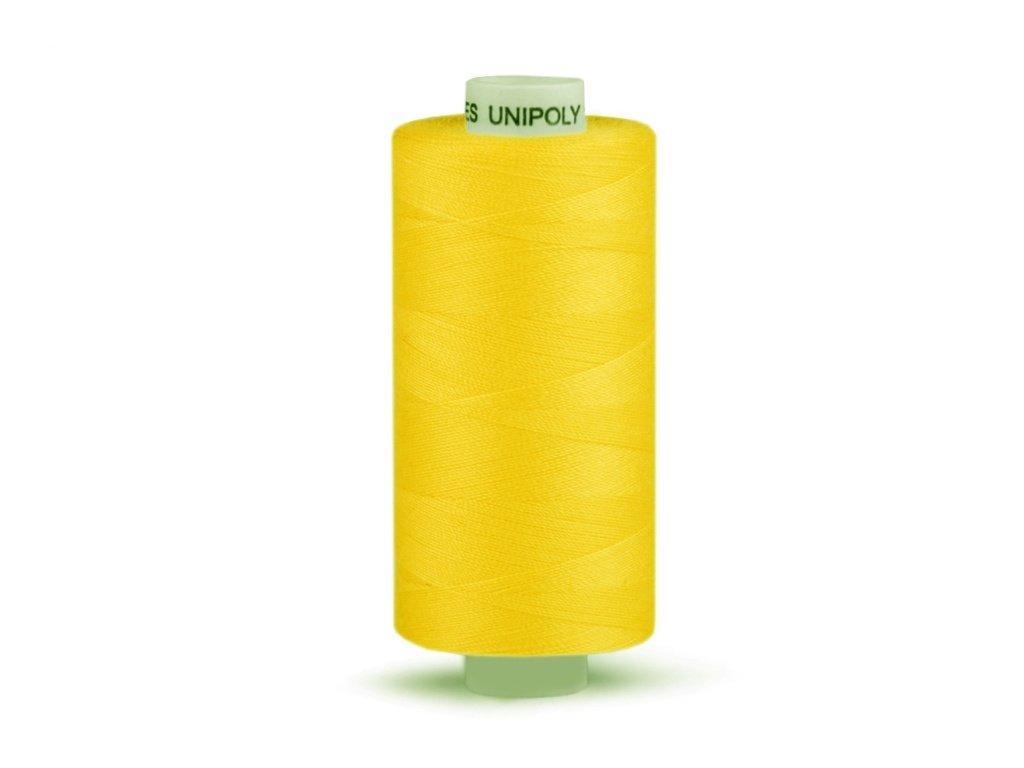 Šicí nit Unipoly 120 návin 500 m / 125 - kanárkově žlutá