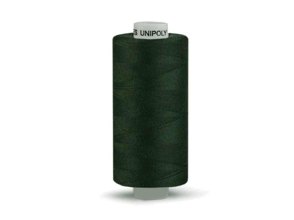 Šicí nit Unipoly 120 návin 500 m / 689 - zelenočerná