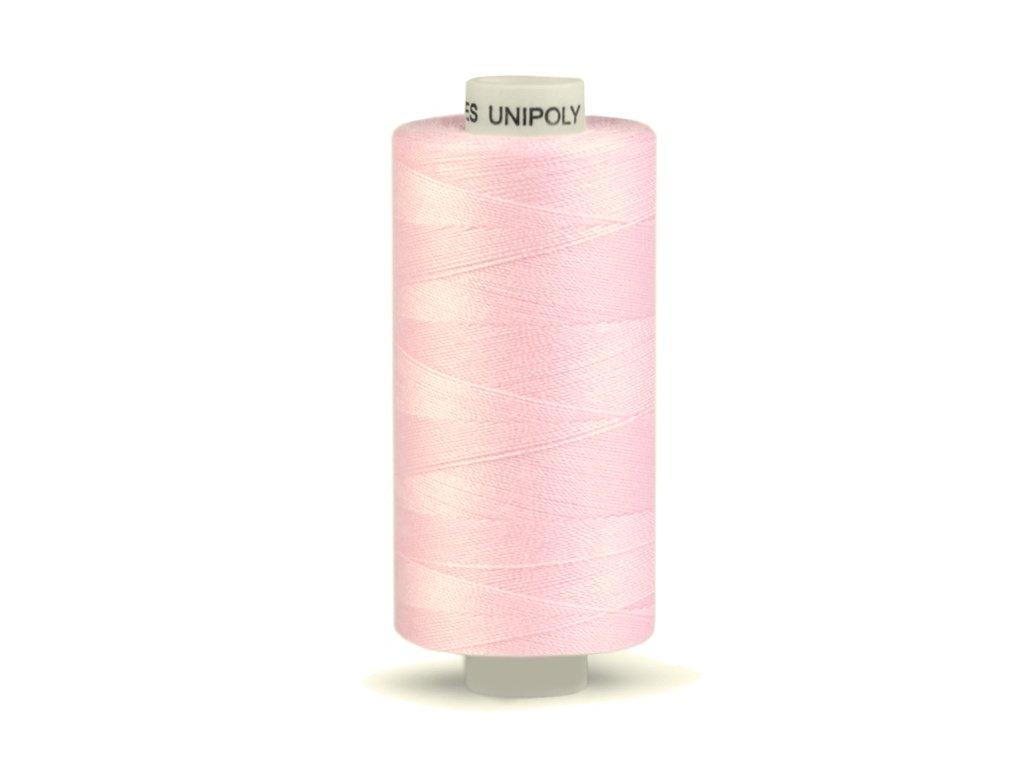 Šicí nit Unipoly 120 návin 500 m / 330 - ledově růžová