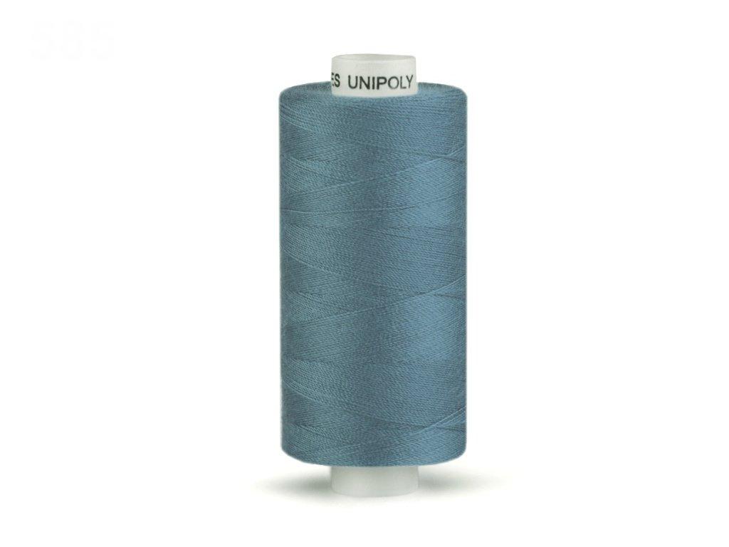 Šicí nit Unipoly 120 návin 500 m / 585 - modrošedá
