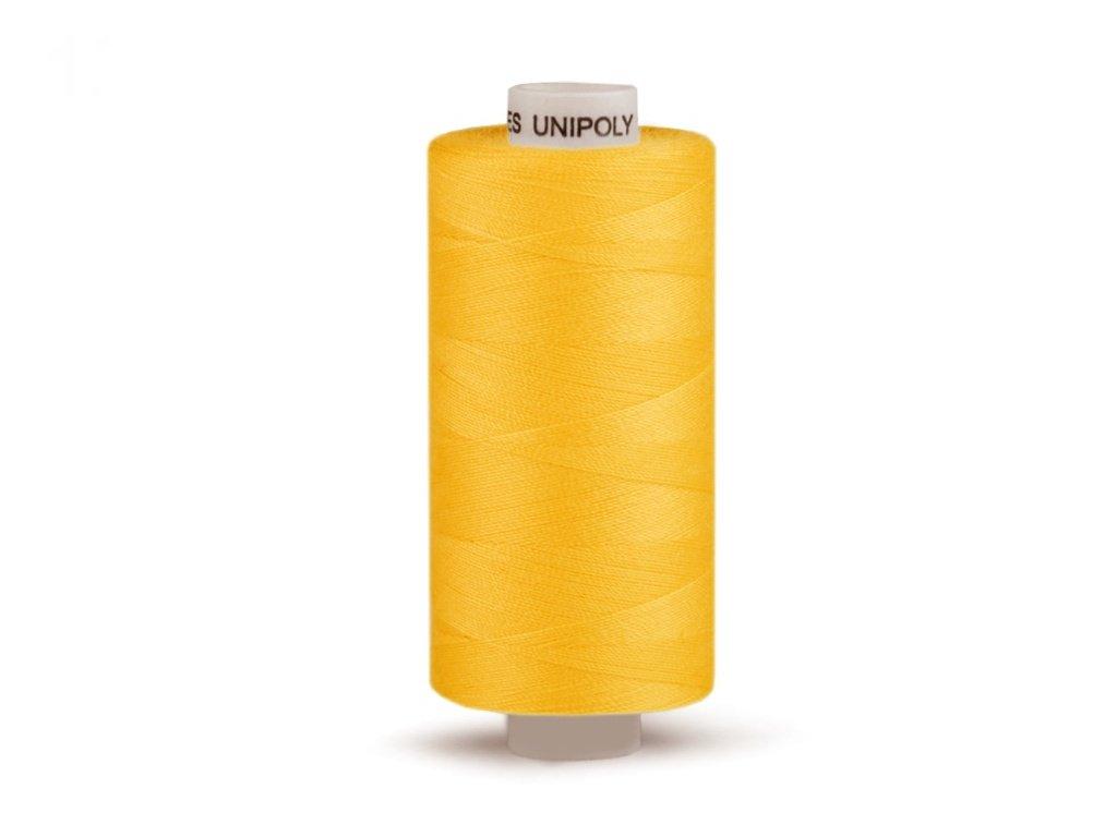 Šicí nit Unipoly 120 návin 500 m / 126 - sytě žlutá