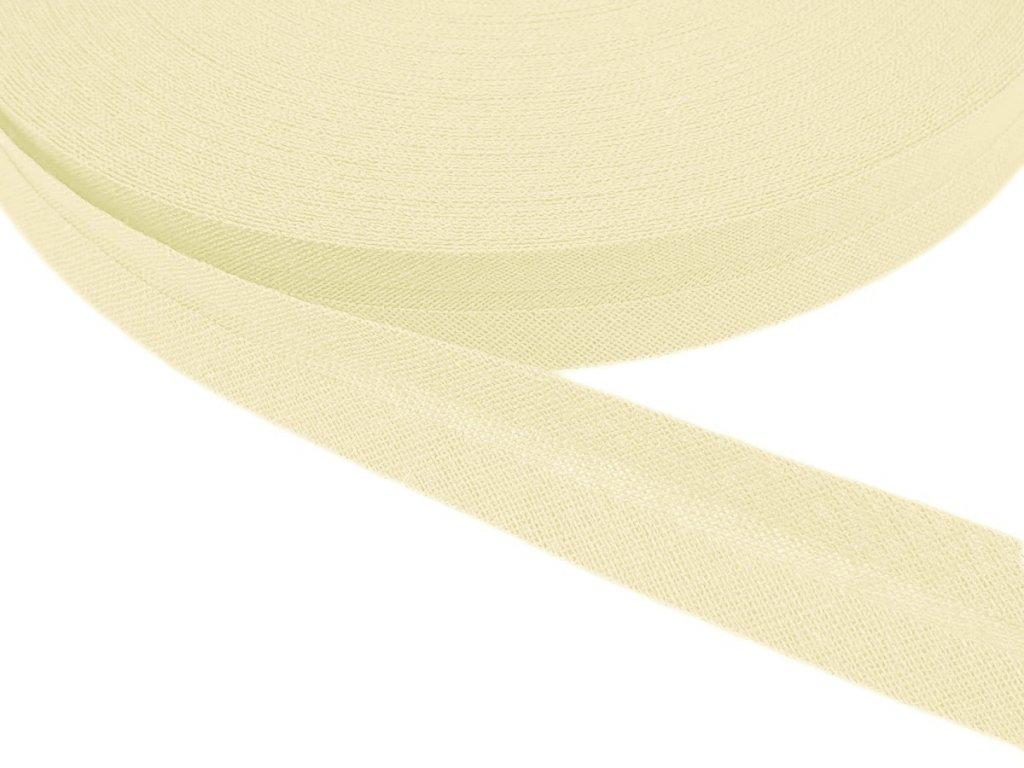 Šikmý proužek bavlněný šíře 14 mm - režná