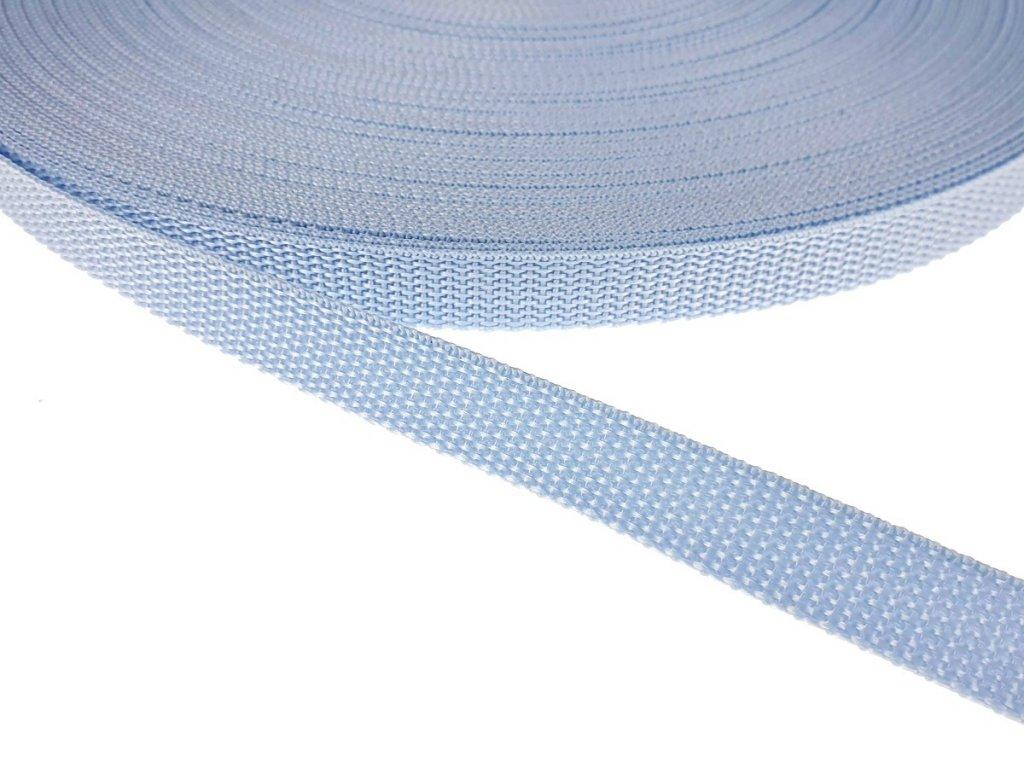 Popruh polypropylénový šíře 15 mm - sv. modrý