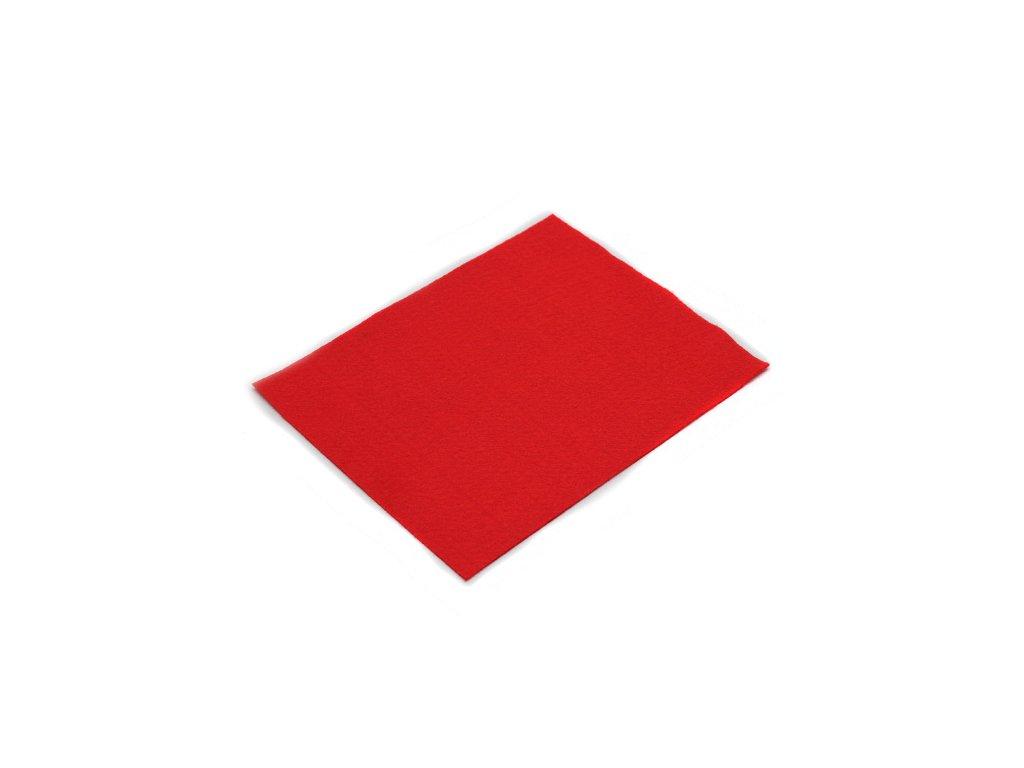 Látková dekorativní plsť 20x30 cm - červená