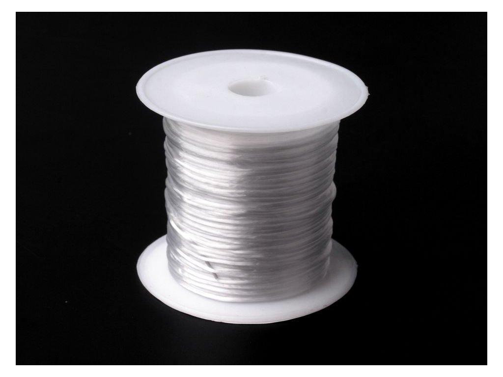 Pruženka / gumička plochá 1 mm - 10 metrů / transparent