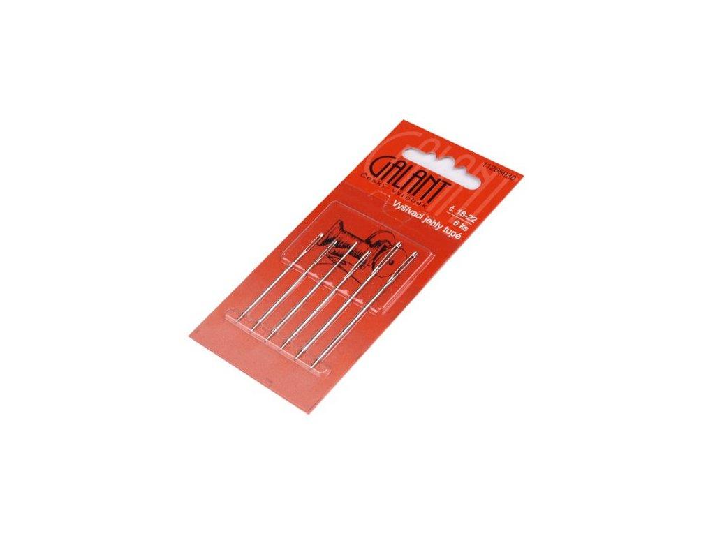 Ruční vyšívací jehly tupé (6 kusů)