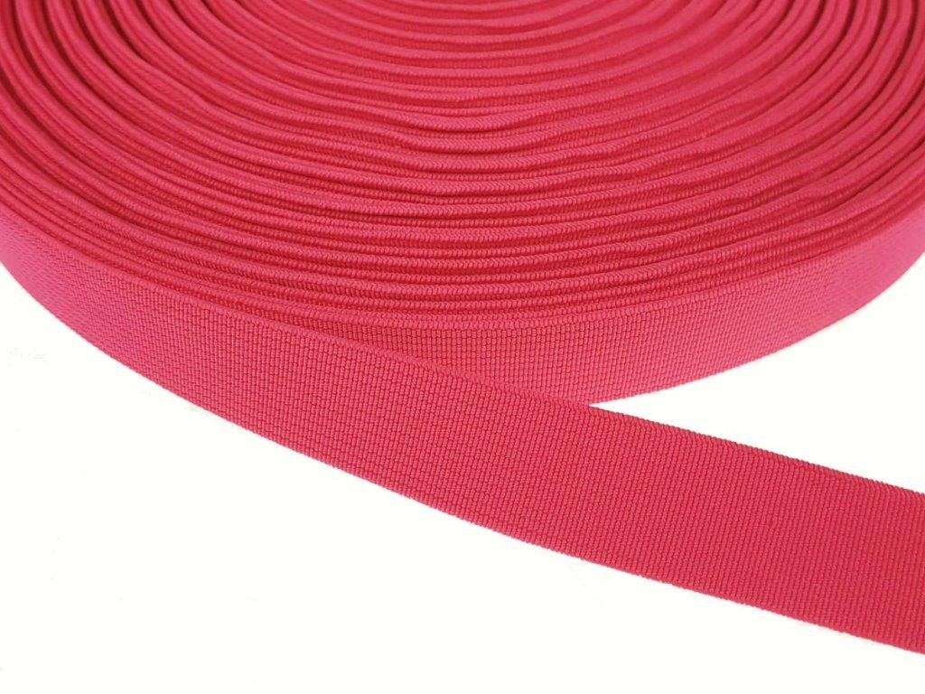 Pruženka plochá tkaná 20 mm - růžová pink