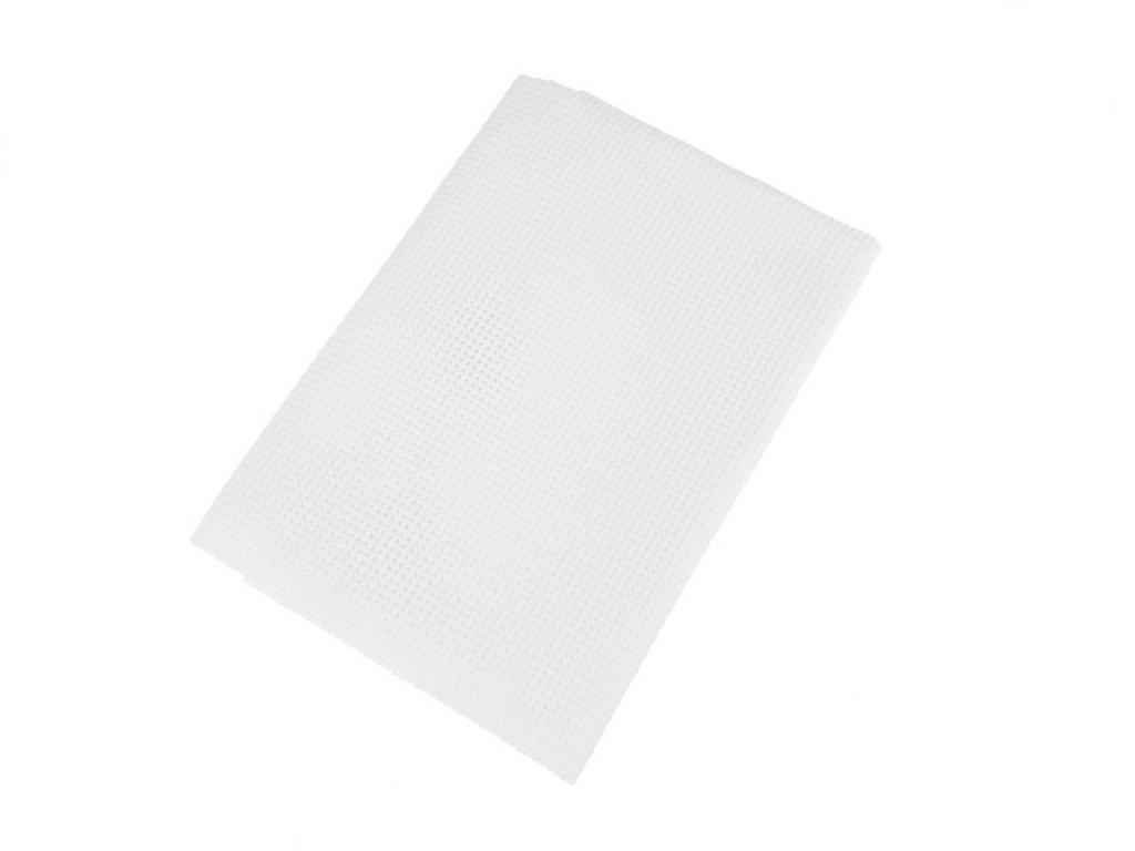 Vyšívací tkanina Kanava 4 / 50x70 cm - bílá