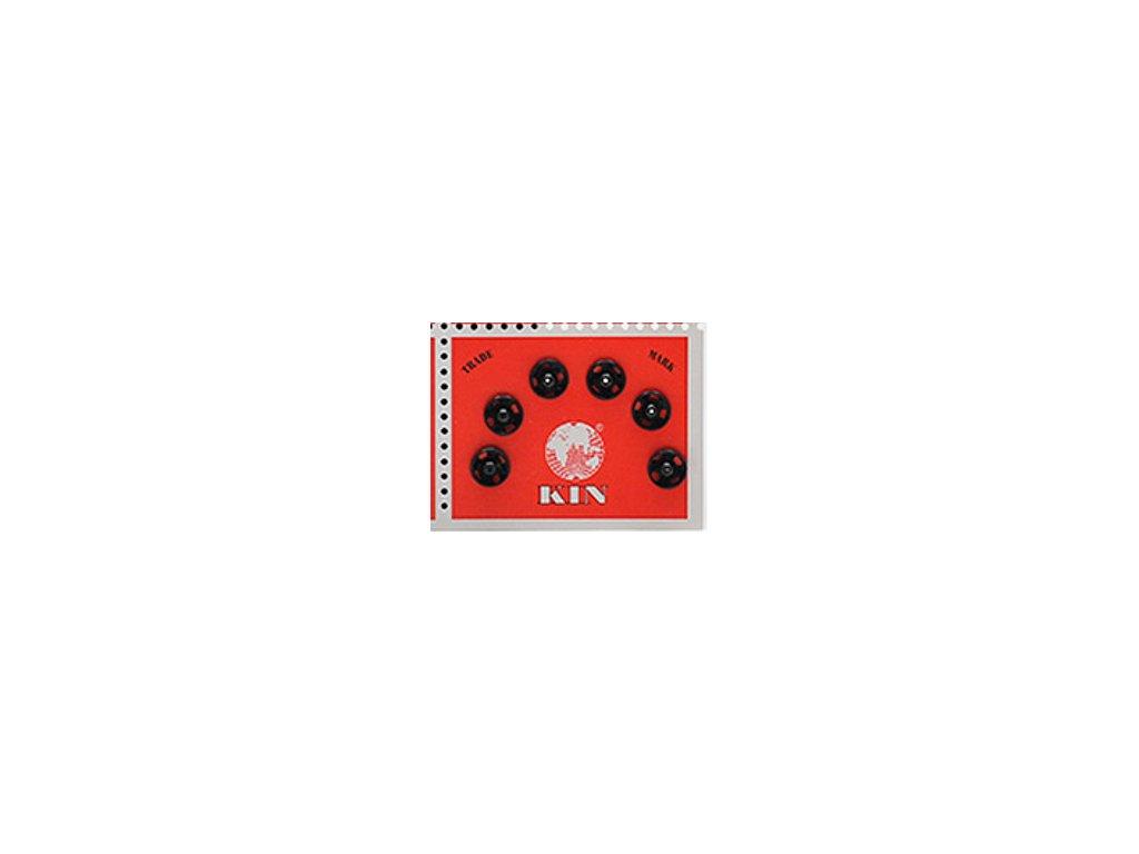 Patentky KIN průměr 7,5 mm / 6 kusů - černé
